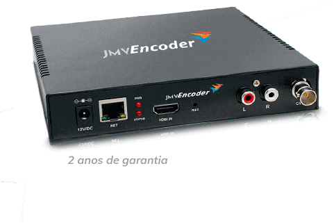 jmv encoder transmissao ao vivo