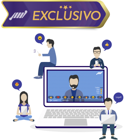 exclusivo chat integrado player de streaming personalizado