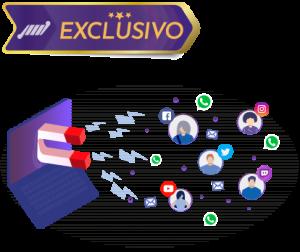 tv com ima puxando pessoas e logo de redes sociais html5 video player com captura de leads 300x252