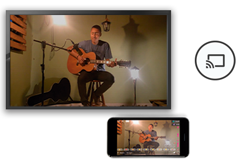 Smart tv compartilhando conteudo html5 video player com compatibilidade chromecast apple tv