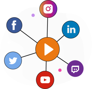 transmissao simultanea para todas as redes sociais instagram facebook linkedin youtube twitter twitch tv streaming de video 300x290